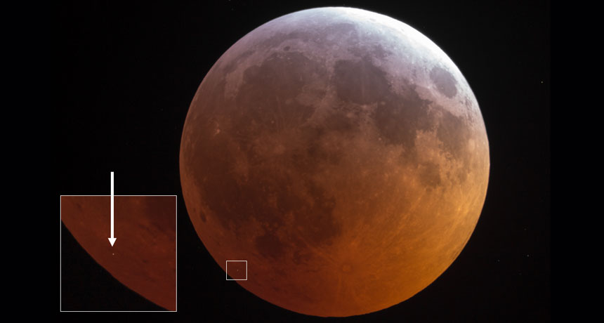 A basketball-sized rock struck the moon throughout the last lunar eclipse