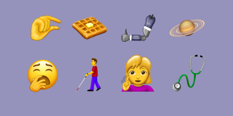 "Emoji 12.0 brings us waffles, more variety, suggestive ""finger pinch"" glyph"