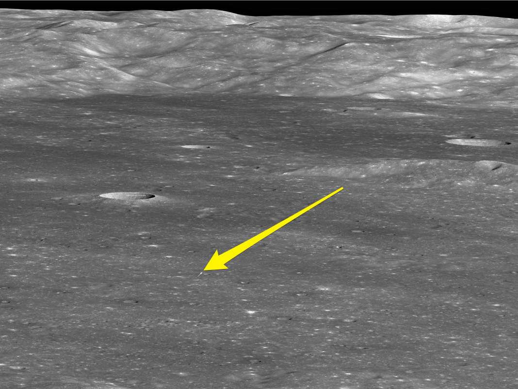 NASA has actually photographed China's brand-new lunar lander on the far side of the moon– here's the very first image