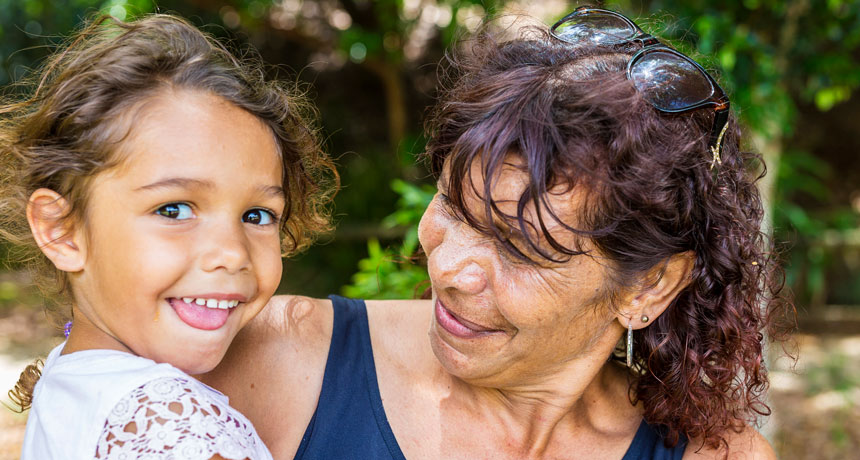 Evolutionarily, grannies benefit grandkids– as much as a point