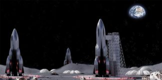 Here's a Smart concept. Develop Moon Bases in Craters and after that Fill them in with Lunar Regolith