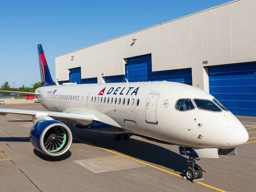 Delta is the very first United States airline company to fly the brand-new Plane A220 jetliner. Here are its coolest functions. (DAL)