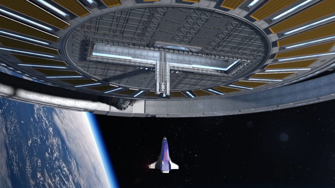Entrance Structure Displays Their Prepare For a Huge Rotating Spaceport Station