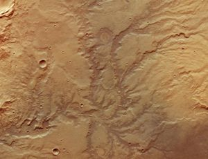 Dry Mars river valley looks remarkably Earth-like