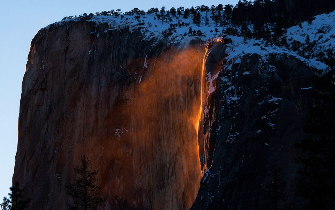A Sensational 'Firefall' Flared to Life in Yosemite Today