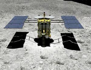Japan's Hayabusa2 area probe fires bullet into asteroid video