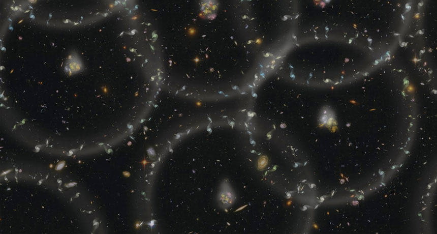 Covert ancient neutrinos might form the patterns of galaxies
