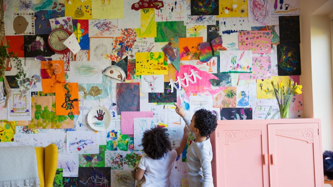 Show Your Kid's Art on an Ignored Wall