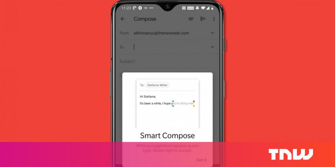 Gmail's Smart Compose function opens to more Android phones– here's how to get it