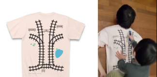 Moms and dads, Draw a Railway on the Back of Your T-shirt