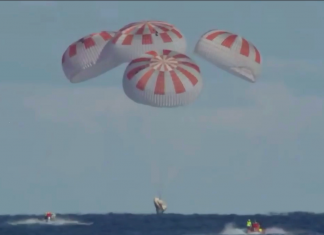 View the SpaceX Team Dragon pill land back in the world for the very first time