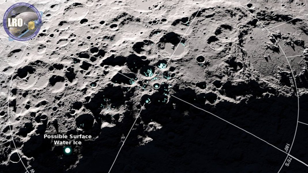 Water Particles Bounce Around the Moon. Here's Why.