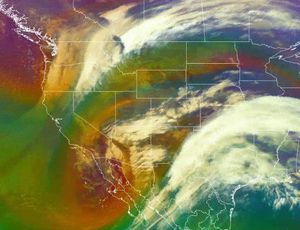 Bomb cyclone appears like a monster from area