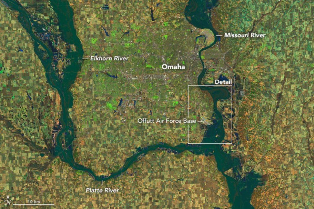 Nebraska Flooding Seen from Area in Remarkable Information
