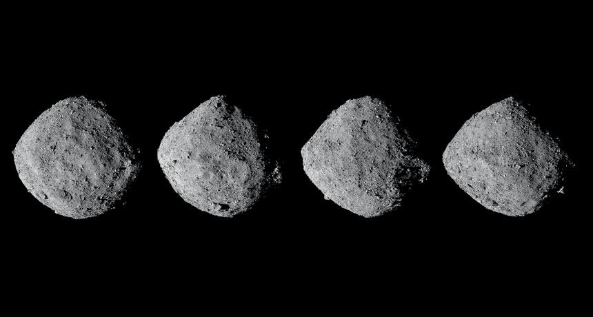 Unexpected astronomers, Bennu spits plumes of dust into area