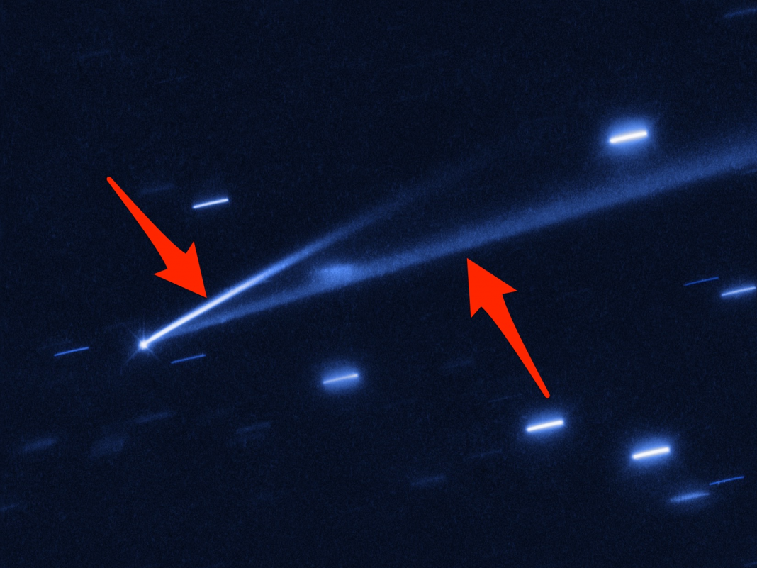 The Hubble telescope identified an asteroid that has actually grown 2 tails– and researchers believe it's ripping itself to pieces