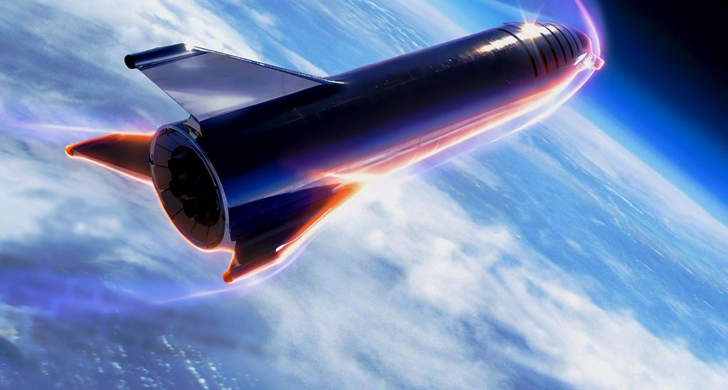 SpaceX Launches a New Render of What the All-Steel Starship Will Appear Like Going Back To Earth