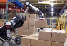 See Boston Characteristics robotic stack storage facility boxes like a Tetris pro