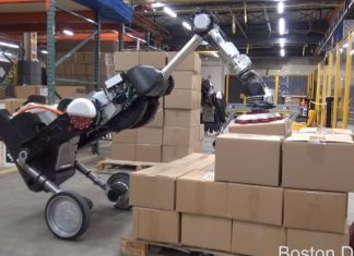 Boston Characteristics' newest robotic is a mechanical ostrich that loads pallets