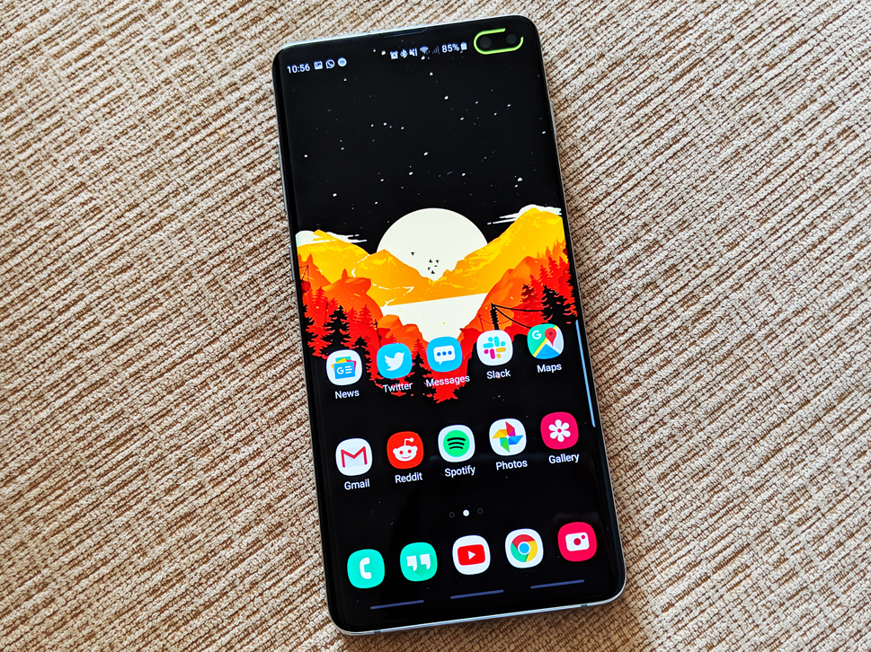 This popular app for the brand-new Galaxy S10 phones makes the very best usage of Samsung's hole-punch cam when you're not taking selfies