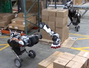 Boston Characteristics Deal with robotic is a box-stacking monster video