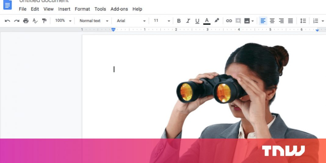 No, seeing openly shared Google Docs do not expose your identity