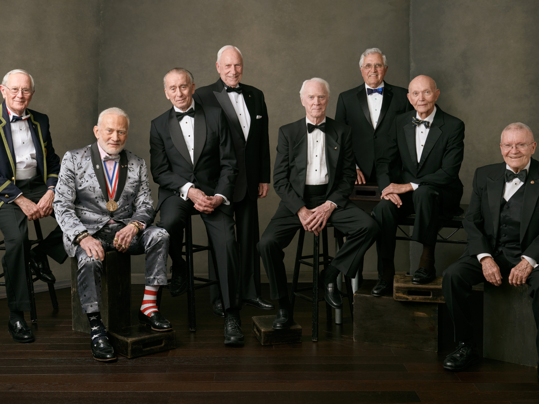 8 of the enduring Apollo astronauts got together for the 50 th anniversary of the moon landing, and Buzz Aldrin's attire took the program