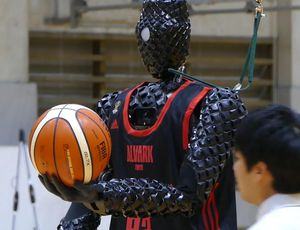Toyota's Hint 3 basketball robotic is a 3-point shooting device (actually) video