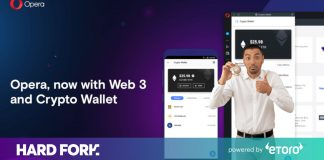 Opera launches its internet browser with integrated cryptocurrency wallet to everybody