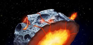 Metal Asteroid Mind May Have Had Volcanoes of Molten Iron