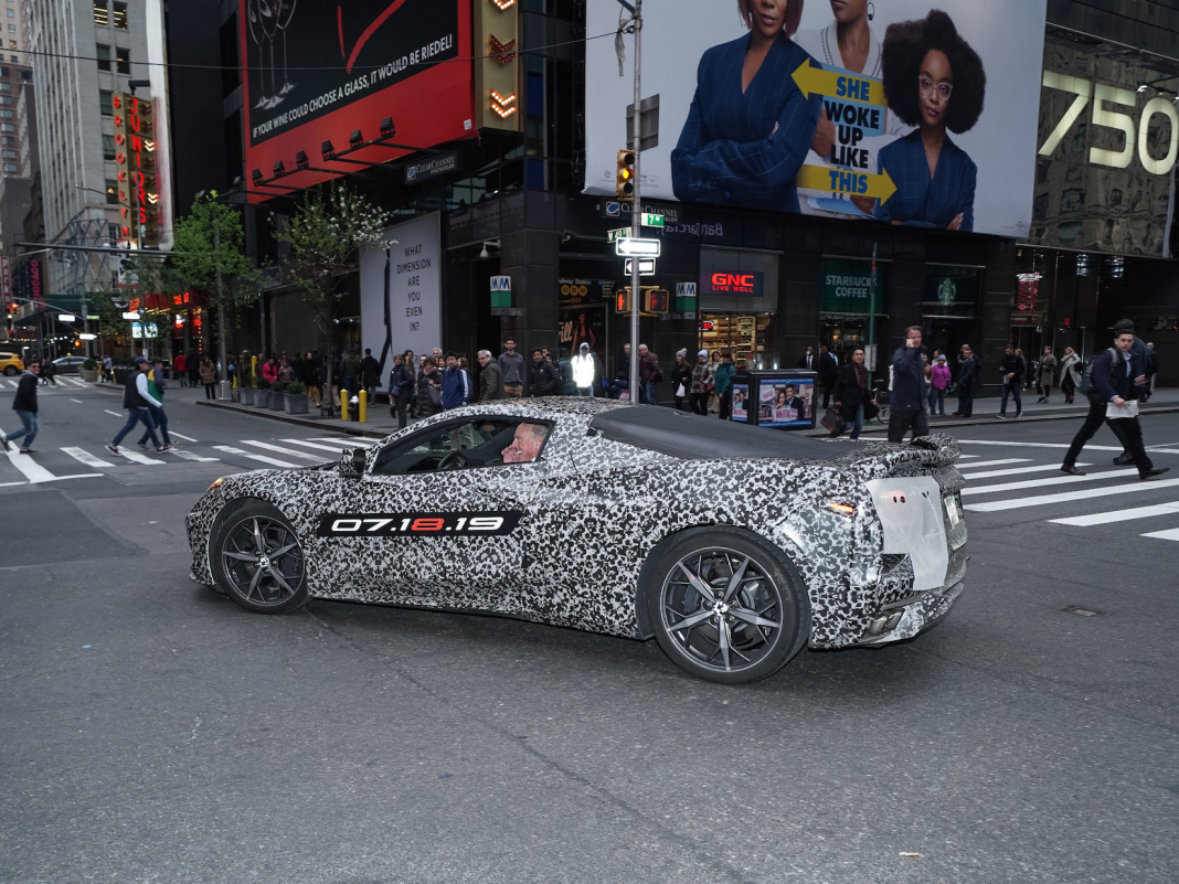 Chevy drove the next-generation Corvette through New york city City– and GM CEO Mary Barra was along for the trip (GM)