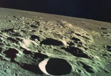 Prior to crashing into the moon, Israel's lunar lander got an awesome last image