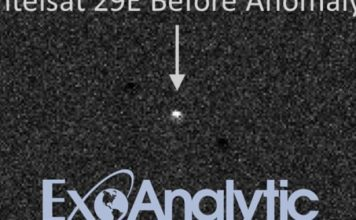 """New video of Intelsat 29 e satellite exposes significant """"abnormality"""""""
