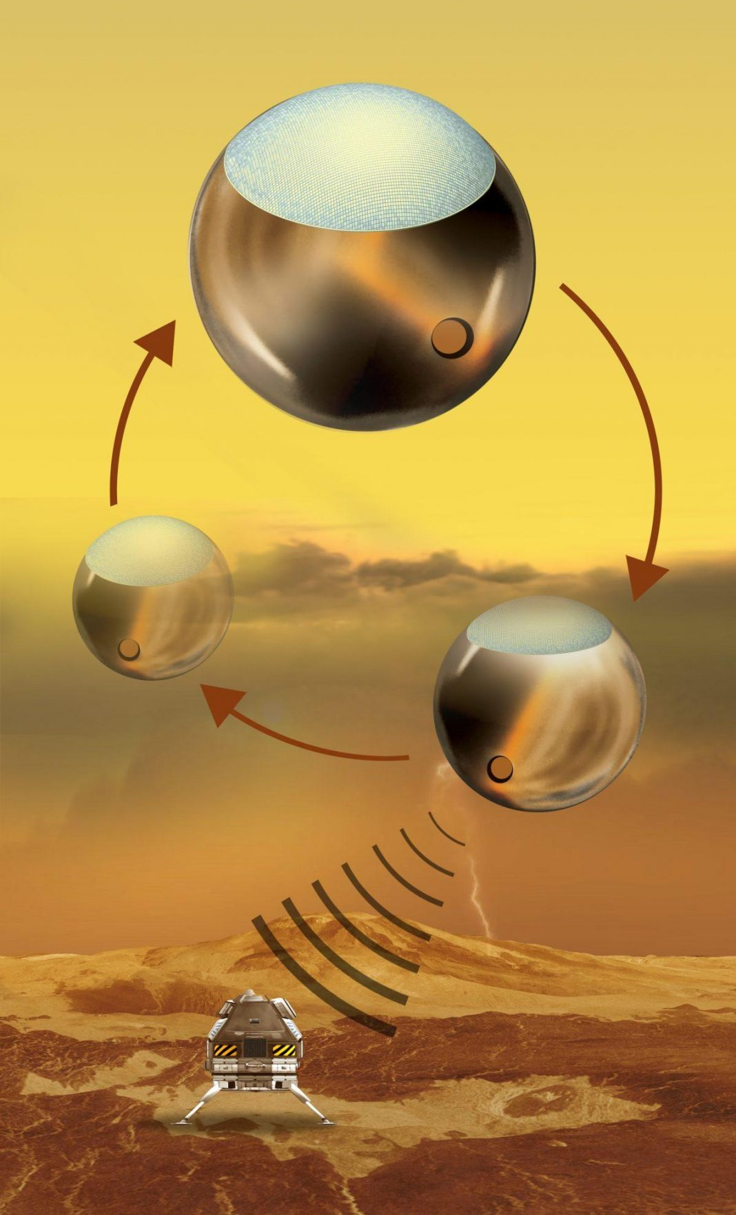 NASA Checks Out Rechargeable Venus Lander; Powered By Microwave-Beaming Climatic Balloon