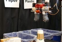 Enjoy this robotic determine and arrange recycled products video