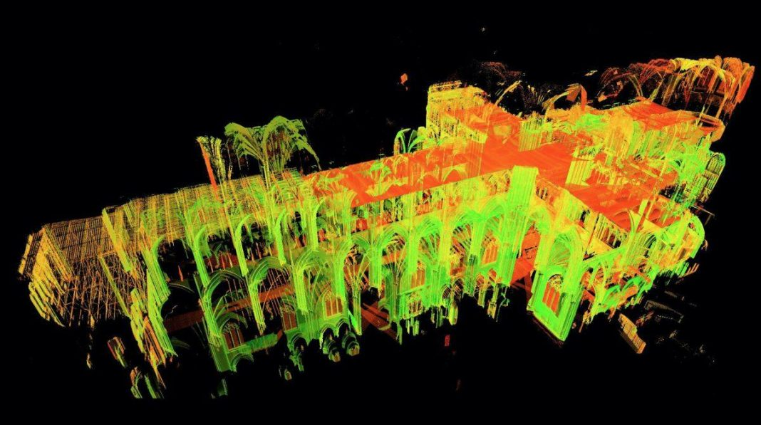 We Have Gorgeous 3-D Laser Maps Of Every Information Of Notre Dame