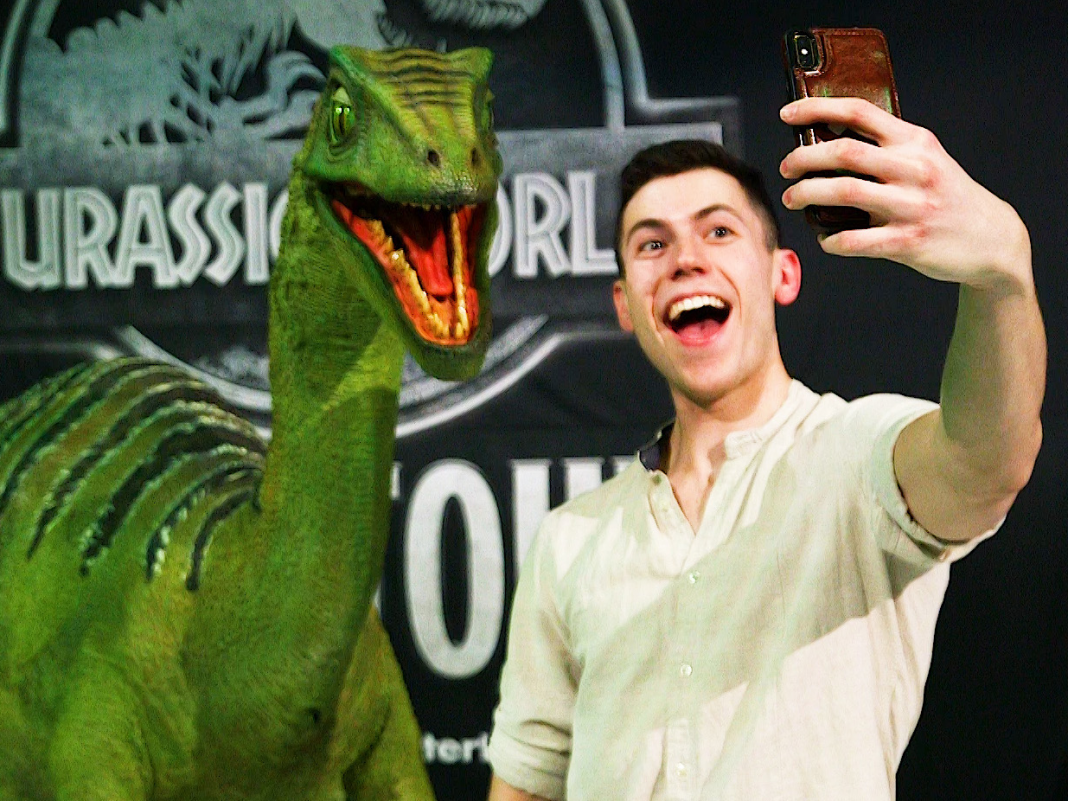 These dinosaur puppets come to life in the live 'Jurassic World' program