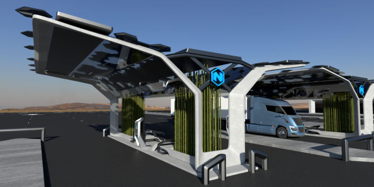 The hydrogen fuel technique behind Nikola's truck dream