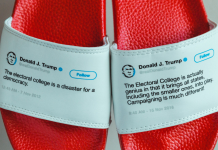 This man made physical flip-flops out of Trump's inconsistent tweets– and he offered out his whole stock in less than a month