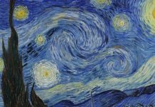 Swirling patterns in Starry Night match those in gassy star nurseries
