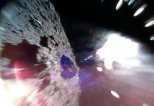 Japanese spacecraft's cannonball scars asteroid for life