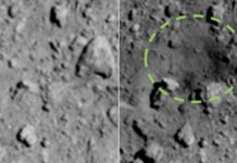 Pictures validate Hayabusa2 made a crater in asteroid Ryugu