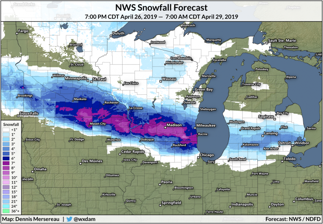 The Upper Midwest Might See Approximately Half A Foot Of Snow This Weekend