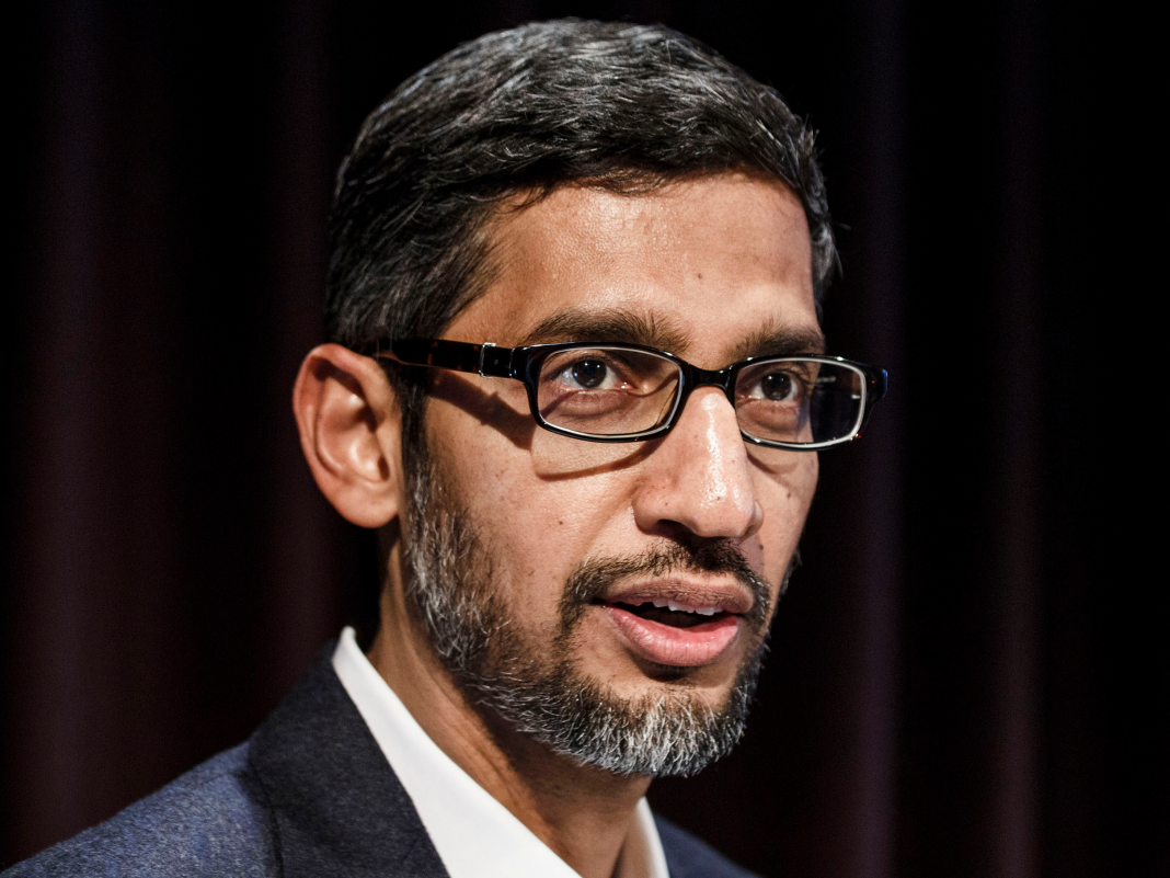 Google CEO Sundar Pichai blames a drop in sales of its Pixel mobile phone on 'headwinds' that are putting pressure on every costly phone (GOOG, GOOGL)