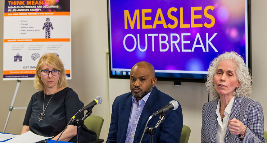 How holes in herd resistance caused a 25- year high in U.S. measles cases