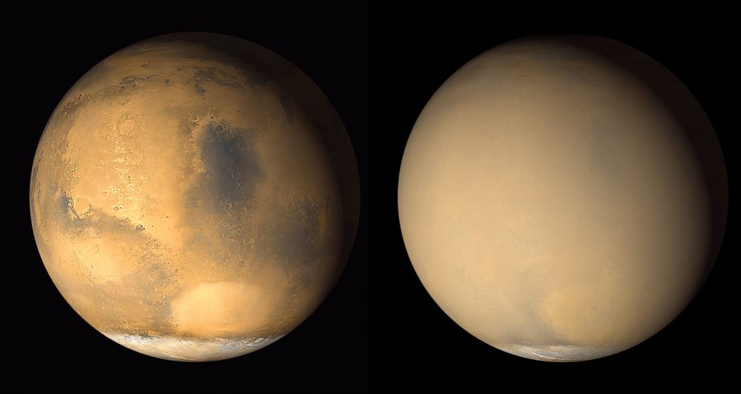The Worldwide Dust Storm that Ended Chance Assisted Teach us how Mars Lost its Water
