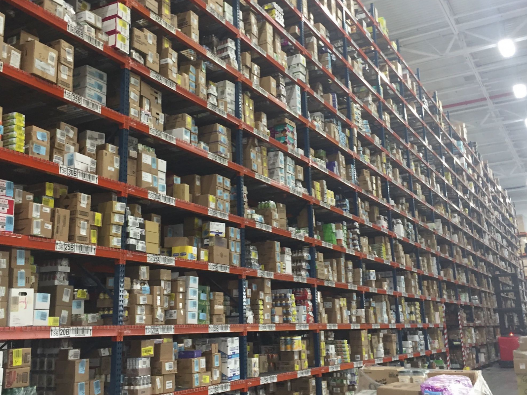 FreshDirect beat Amazon to the grocery-delivery company by years. Have a look inside its vast storage facility.