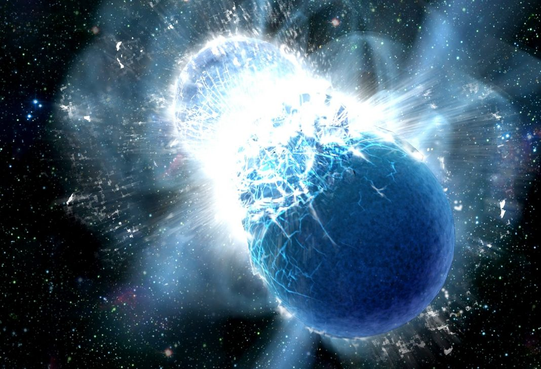 A few of Earth's Gold Originated from 2 Neutron Stars That Collided Billions of Years Ago