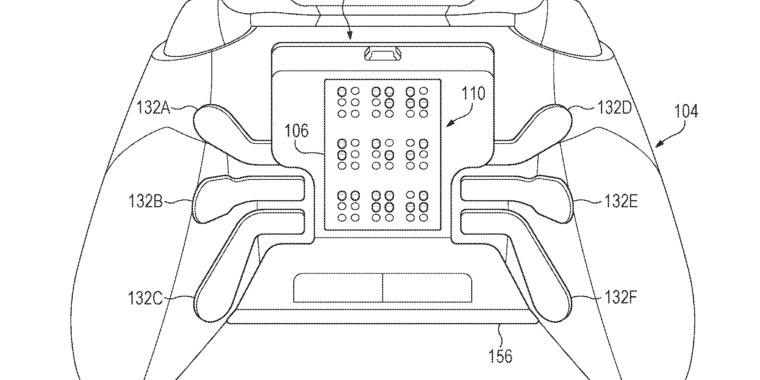 Microsoft patented a braille-displaying controller device for the blind