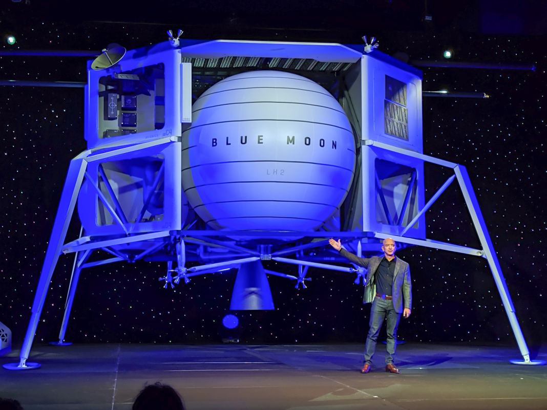 Jeff Bezos revealed a huge lunar lander that he states is 'going to the moon'